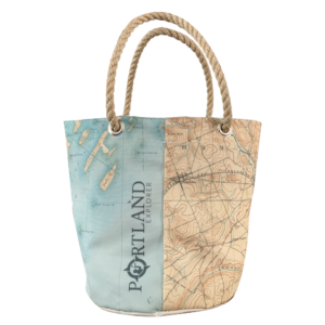 Casco Bay Nautical Chart Beverage Bucket Bag