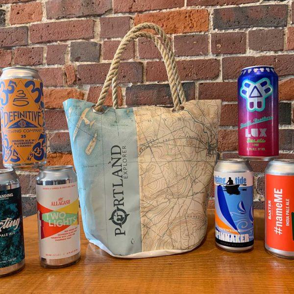 Casco Bay Nautical Chart Beverage Bucket Bag